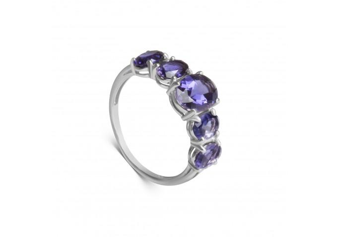 кольцо с иолитами