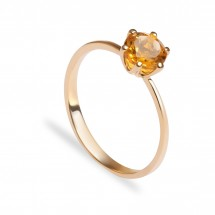 кольцо c цитрином