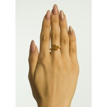 Кольцо с топазолитами