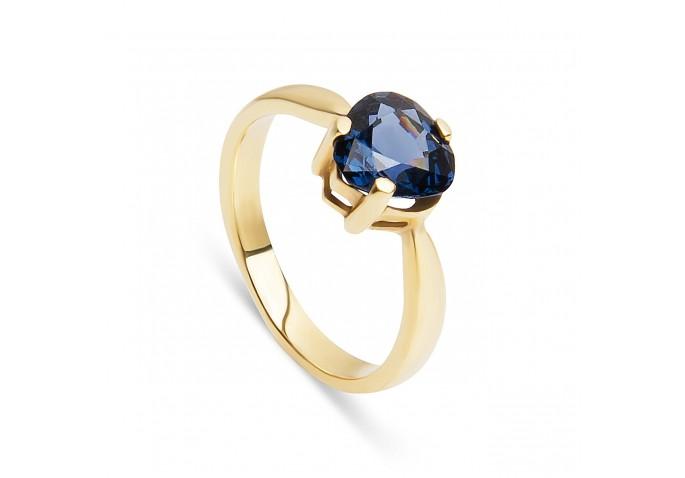Кольцо с синей шпинелью