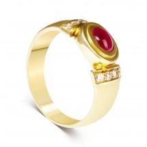 Кольцо с рубином и бриллиантами