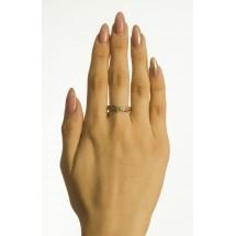 Кольцо с демантоидом и бриллиантами