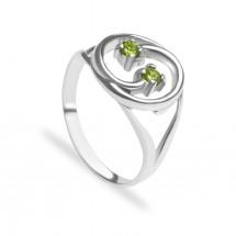 кольцо с демантоидодами